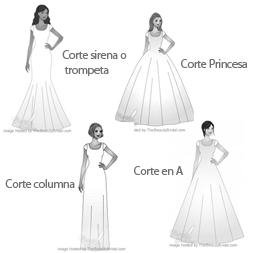Molde vestido de novia sirena