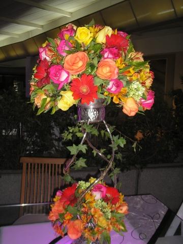 Centros de mesa con arreglos florales