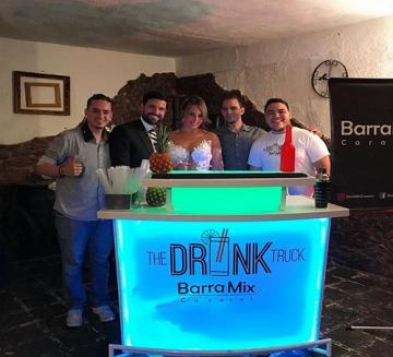 Barra móvil y cócteles para celebrar