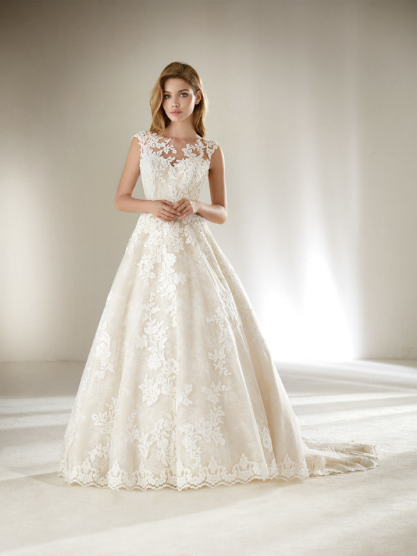 b409a22c9 Vestido de novia Pronovias Dracme